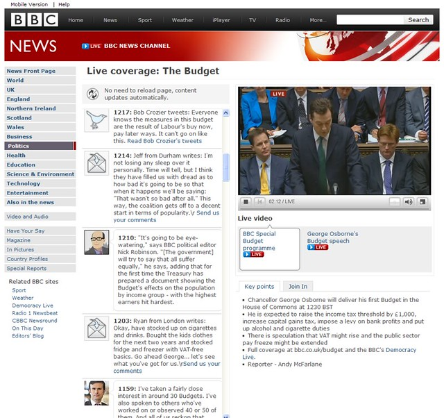 BBC News Budget Live Coverage