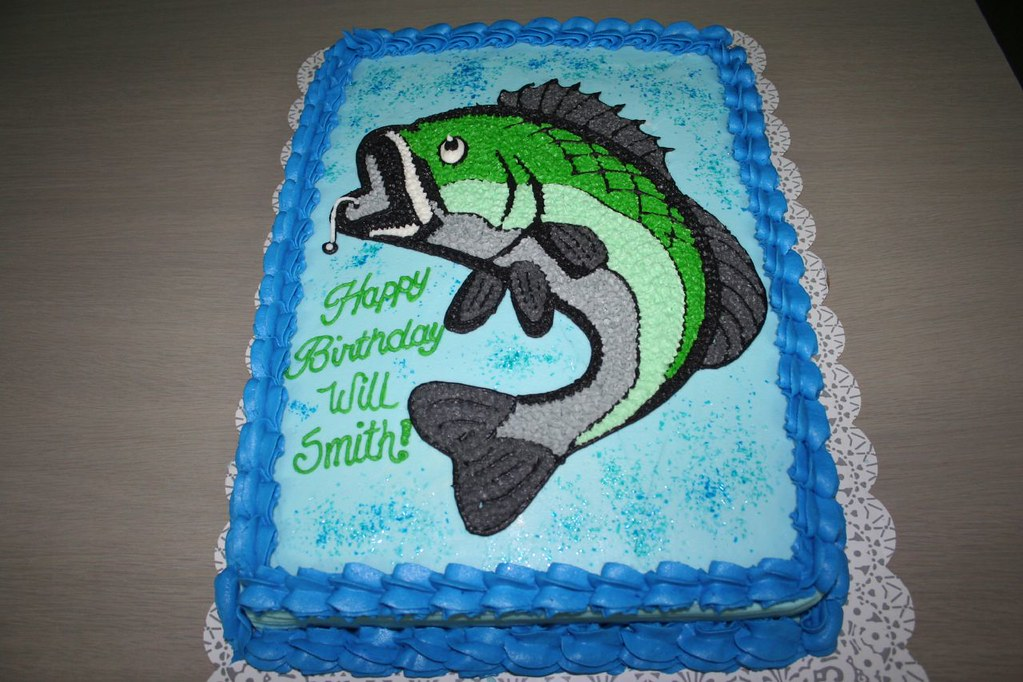 Surprising Bass Fishing Cake Please Let Me Know What You Think Of My Funny Birthday Cards Online Overcheapnameinfo