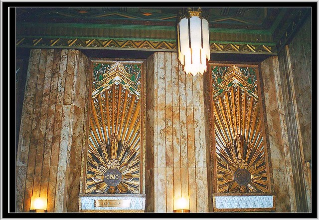 Pantages Theatre Hollywood ~ Deco Design Above the Elevators