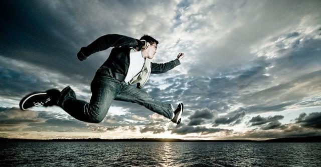 practicing my running-over-water skills
