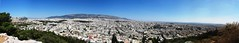 Panoramic view of Athens from Filopappou Hill   by rachellake