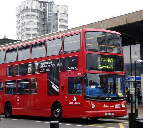 169 Number 169 Bus Outside Barking Station Number 169