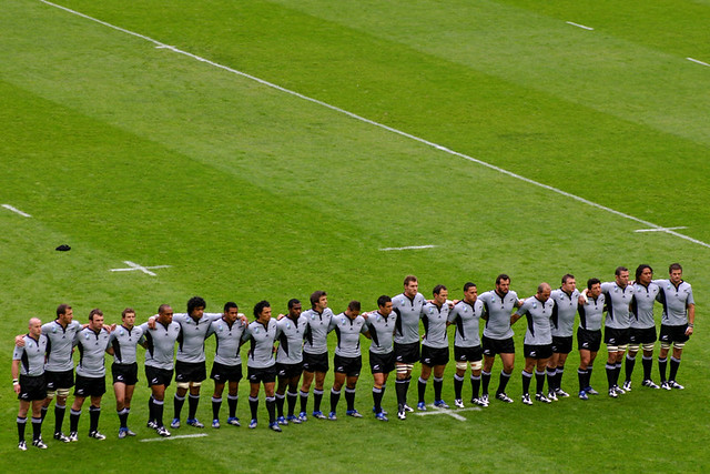 All Blacks during the New Zealand national anthem | All Blac
