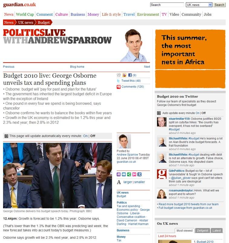 Guardian.co.uk Live Blog
