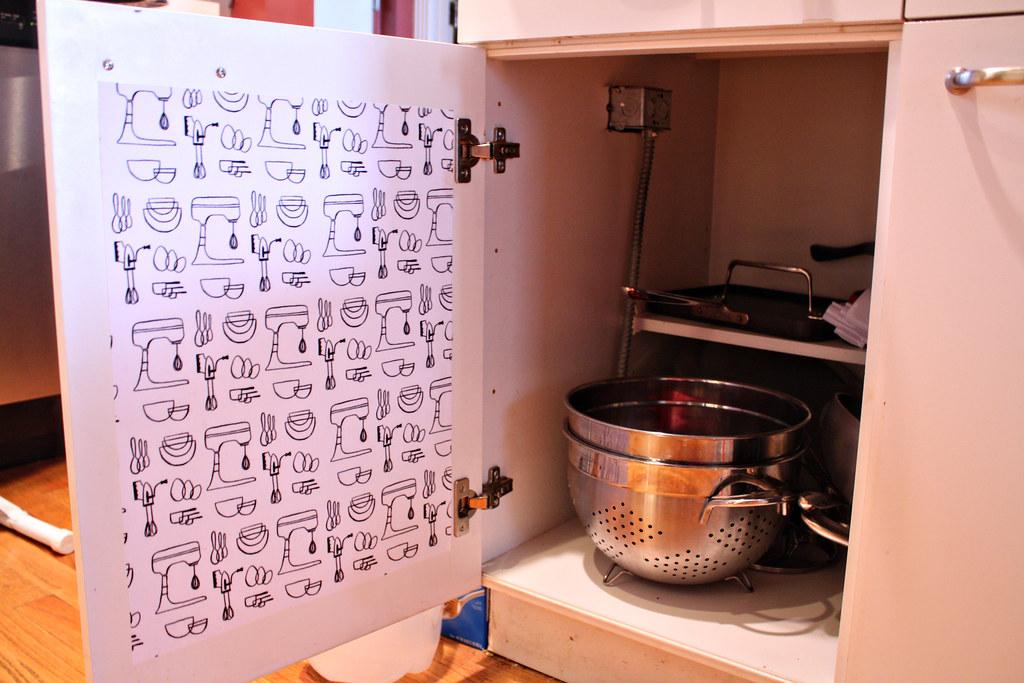 edited Mod Podge Kitchen Cabinet liners (4) | fwmpkp | Flickr