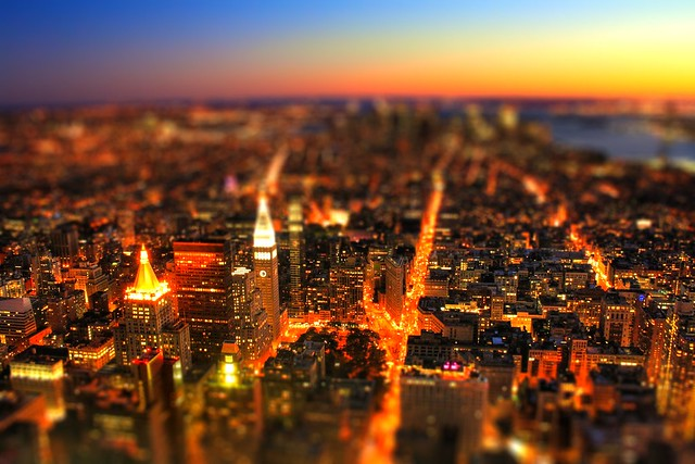 New York City USA - South Manhatten Tiltshift by Night