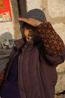 my mother,胡大妹, shot in Zhudajiu, my hometown my amateur photographer.