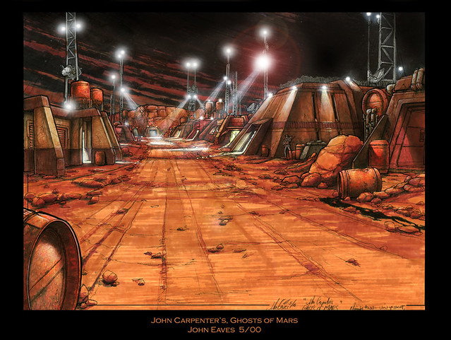 Ghosts of Mars, mining colony