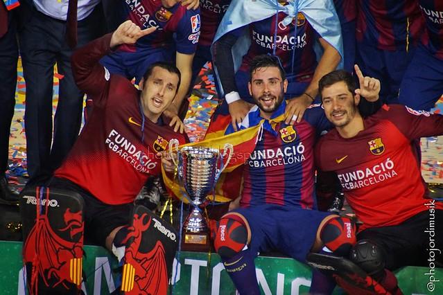 Partit Ok Lliga FC Barcelona - CE Noia - Celebració títol Ok Lliga 2014/2015