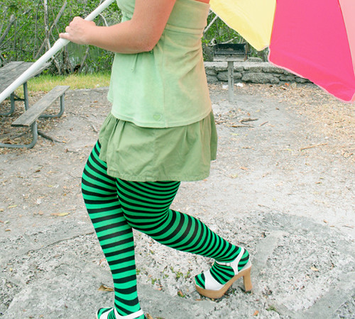 97d365bd67510 Colored Plus Size Striped Tights. | Kelly green and black st… | Flickr