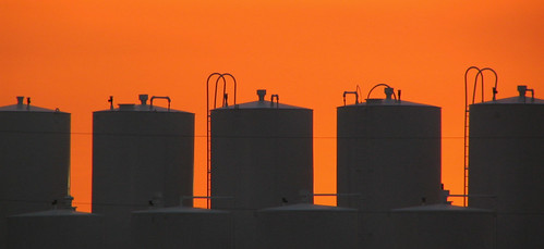 sunset sky orange twilight glow 5 five silos glows canonpowershots1is fromwindow jeremystockwellpix
