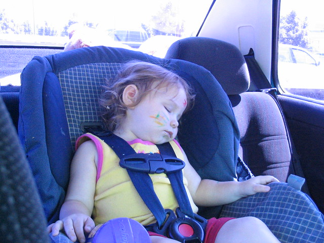 Asleep in her Carseat