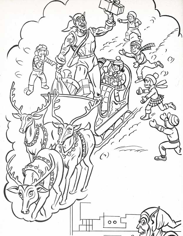 The Marvel Super Heroes' Christmas Coloring Book Page Flickr