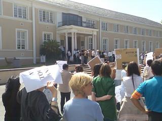 strike at UCT, outside of Bremner