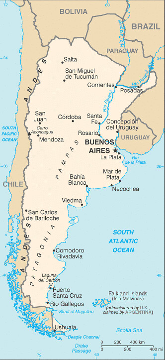 Argentina Map and Buenos Aires Location