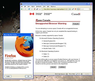 Canada Revenue unsupported browser 2: Firefox 2/Win | by trento