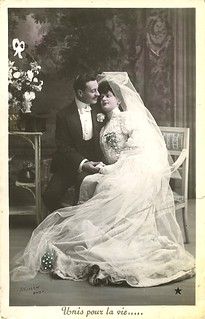 Vintage Wedding Postcard ~ Bride & Groom | by chicks57