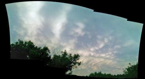 trees sunset storm clouds southdakota siouxfalls realvizstitcher adobecs3