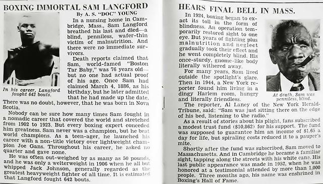 Boxing Immortal Sam Langford Dies - Jet Magazine January 26, 1956
