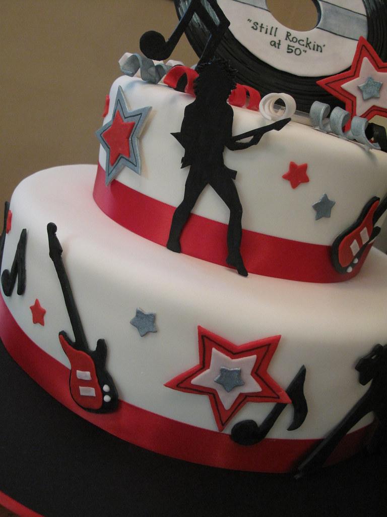 Fine 50Th Birthday Rock N Roll Cake Fondant Covered With Gumpa Flickr Personalised Birthday Cards Vishlily Jamesorg