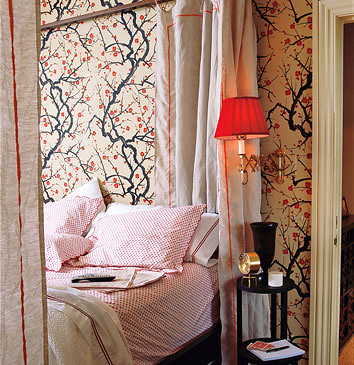 ... Modern wallpaper: Flowering Quince by Clarence House | by SarahKaron