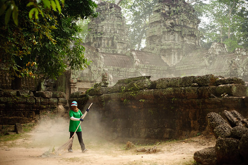 Morning Sweeper at Ta Prohm Temple | by goingslowly
