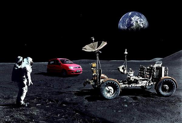 Moon Rover and Moon Car