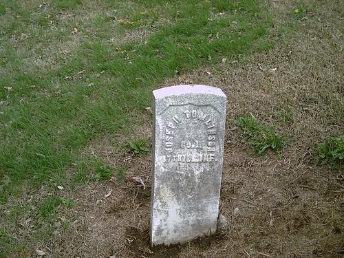 hobby biography civilwarveteran elmwoodcemetery josephtomlinson tombstonephoto coi17thillinfantry chanutekansas