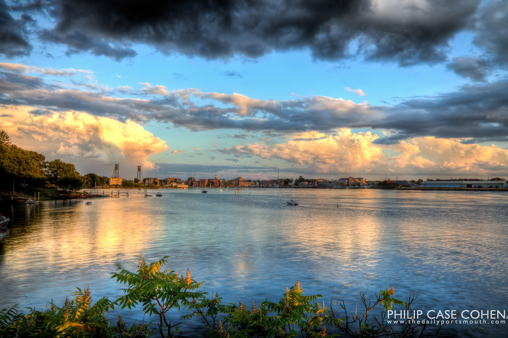 Clouds over Portsmouth by Philip Case Cohen