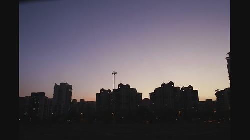 sunset skyline timelapse cityscape mumbai navimumbai kharghar canoneos30d tamron1750 sector20
