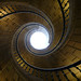 Triple helical spiral staircase