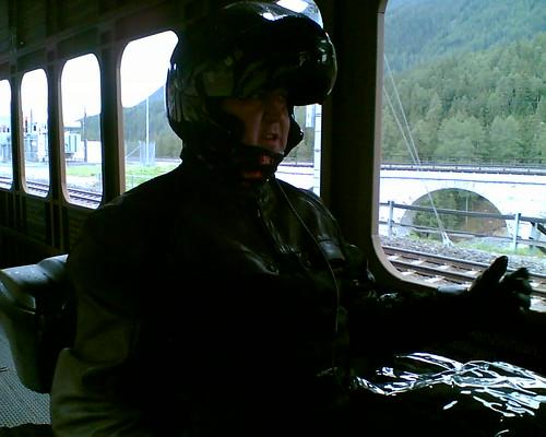 On the train... Vereina Tunnel