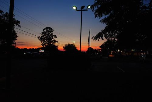 new york blue trees sunset red sky orange purple va deli williamsburg 62010