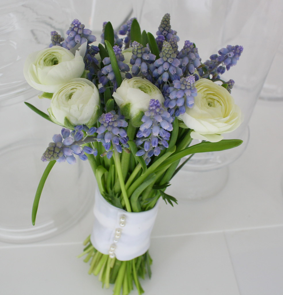 Blue Grape Hyacinth Bridal Bouquet Martha Stewart Would