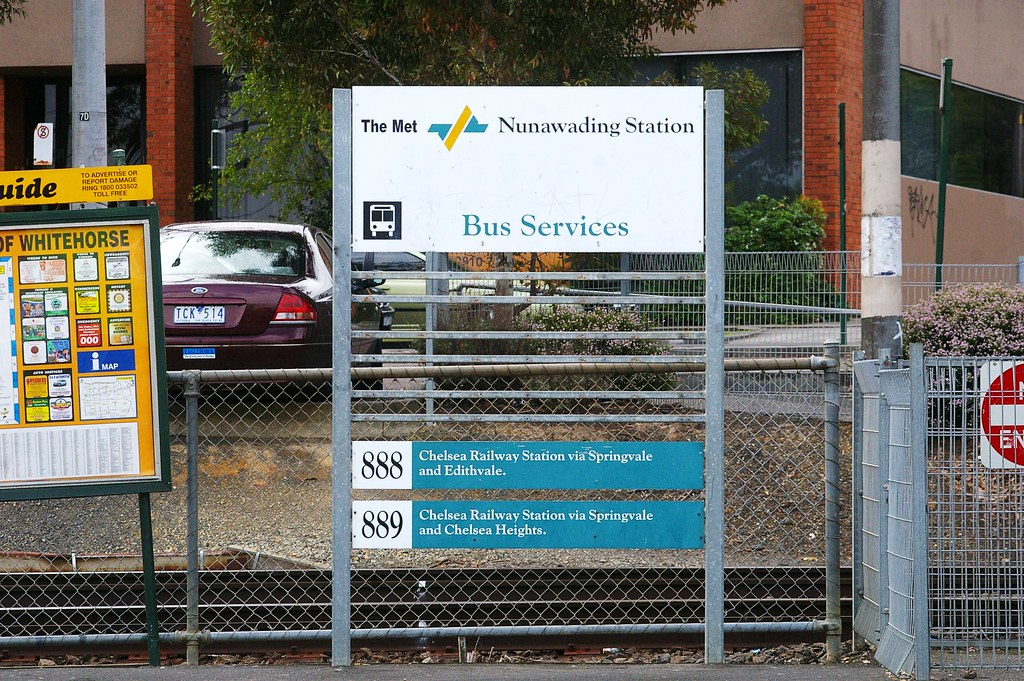 Nunawading PTC Bus Route Index Sign by Michael Coley