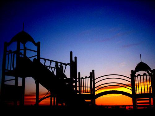 Fun at sunset