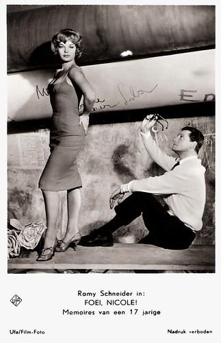 Romy Schneider and Carlos Thompson in Die Halbzarte (1959)