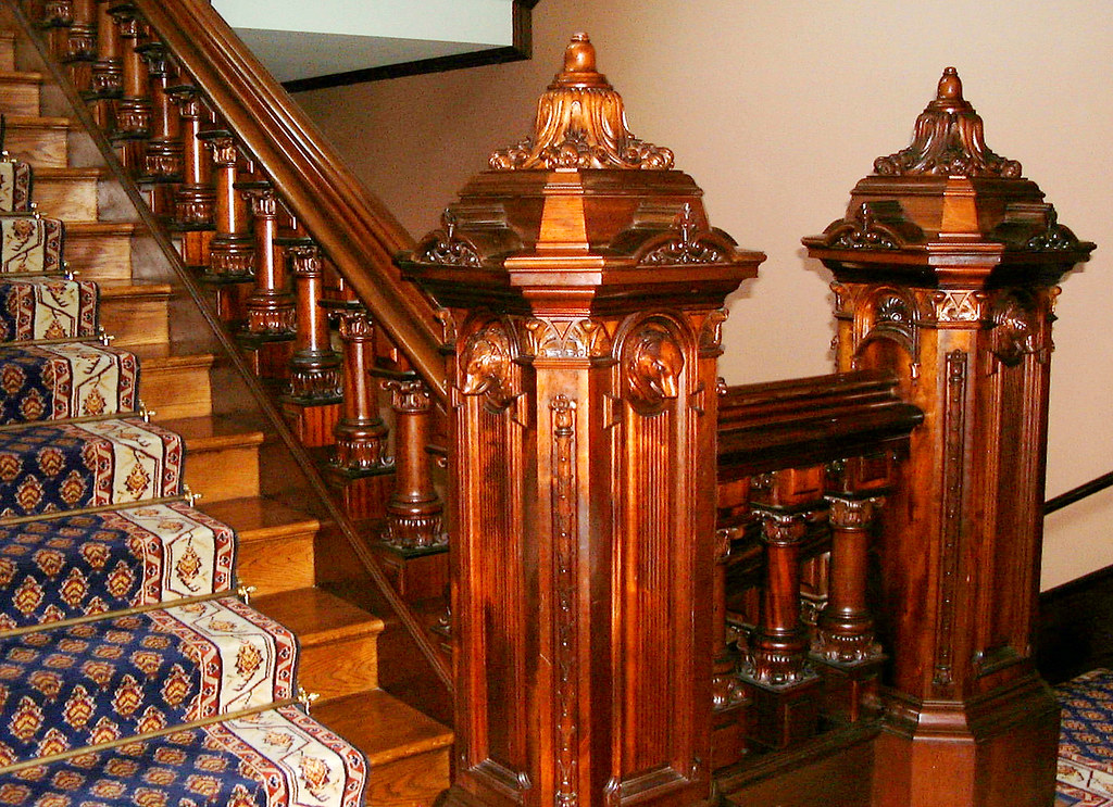 Image result for antique hand carved staircase