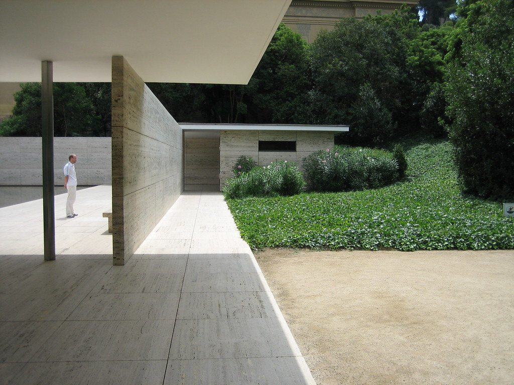 Mies Van Der Rohe Barcelona Pavilion Pabellón Alemán De L Flickr