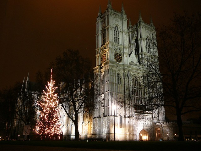 Westminster Abbey on Christmas Eve