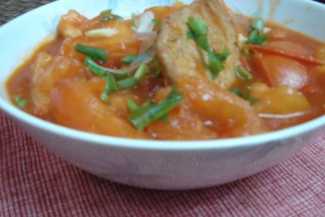 蕃茄煮豬扒