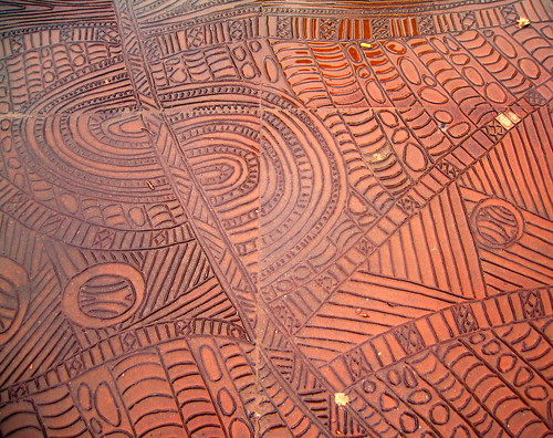 Aboriginal-inspired pavement art | by Ruth and Dave