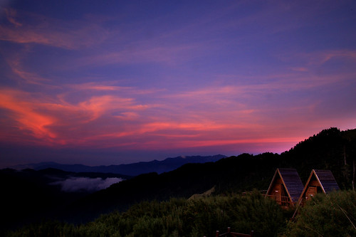 sunset taiwan 雪山 070707 369山莊