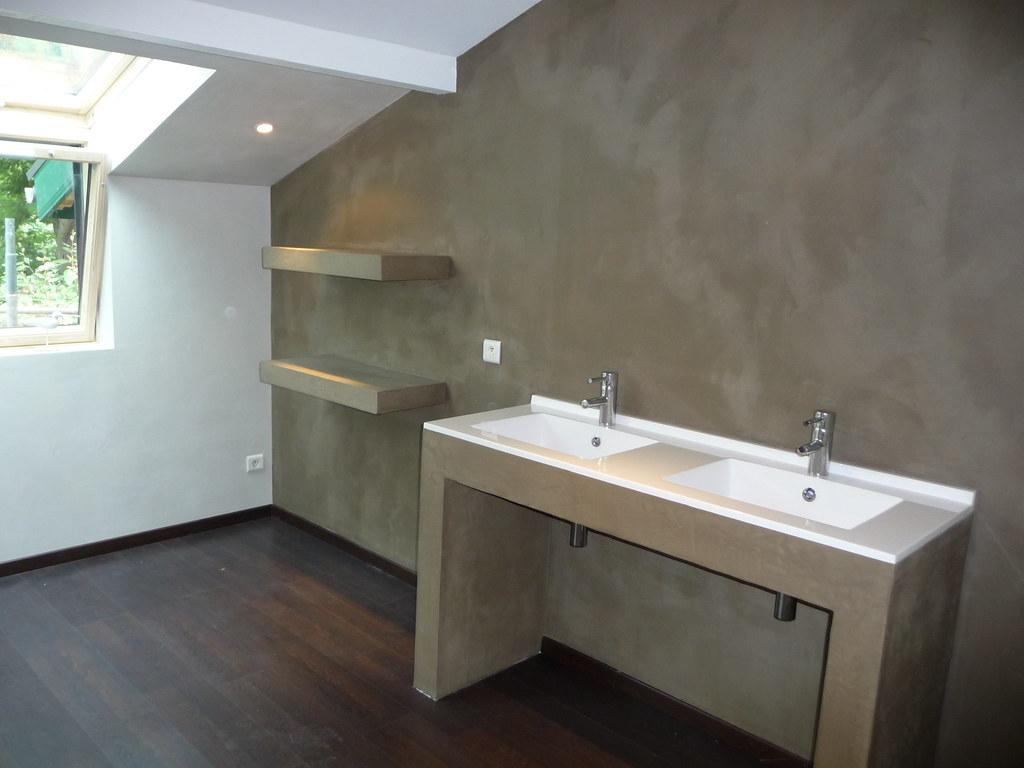 Beton Ciré Salle De Bain salle de bain béton ciré brun clair | batife beton | flickr