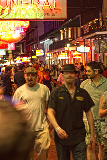 Bourbon Street during Jazzfest 2011. New Orleans, LA | by Chris Richards1