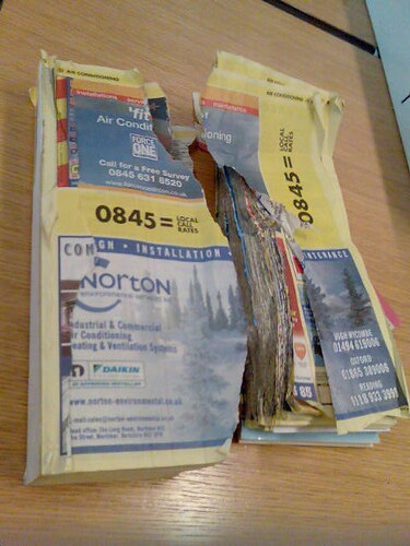 Yellow Pages Torn In Half | by robcheerio