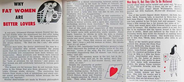 Why Fat Women Make Better Lovers - Jet Magazine, December 24, 1953
