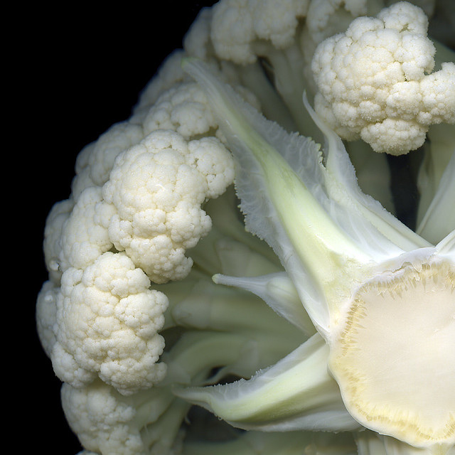 THE SECRET WORLD OF THE CAULIFLOWER! STILL FOR OCTOBER, YET NOT PINK...