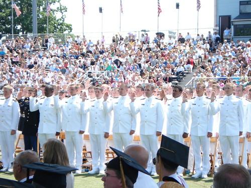 Graduation, Midshipmen taking oath of Office at USMMA