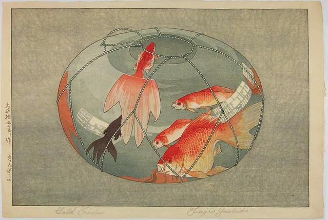 Fujio Yoshida 'Goldfish' 1926